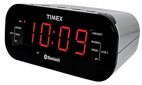 timex t332s bluetooth dual alarm radio alarm clock black merotx. Black Bedroom Furniture Sets. Home Design Ideas