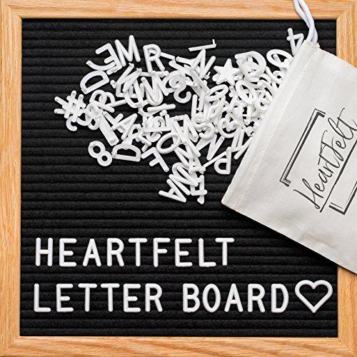 black felt letter board 10 10 inches changeable letter boards include 340 pre cut plastic. Black Bedroom Furniture Sets. Home Design Ideas