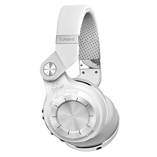 80dd28d8967 Bluedio T2s Turbine Bluetooth Wireless Stereo Headphones with Microphone  57mm Drivers Rotary FoldingWhite