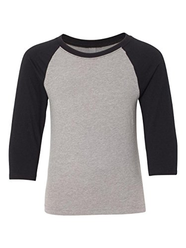 ac8b52cb Short raglan sleeves with contrast color stitching detail. Fabric laundered  for reduced shrinkage. 60% combed ring-spun cotton/40% polyester jersey.