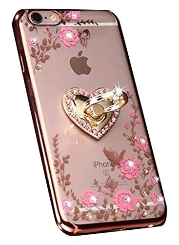 Aulzaju Case for iPhone SE 2nd Generation iPhone 7//iPhone 8 4.7 Inch Luxury Beauty Bling Soft TPU Cover Stylish Slim Shell Design Case Compatible iPhone SE 2020 for Girls Women-Blue